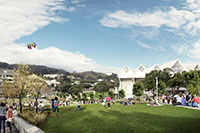 Artist impression of a possible solution for the Basin Reserve